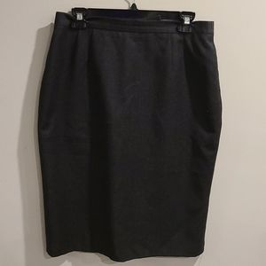 Escada dark grey/blk Heathered wool/cashmere skirt